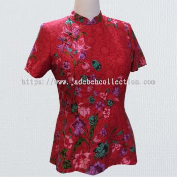 BTK(T)009 Batik Qipao Top