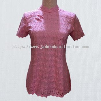 �ۺ�ɫ����˿������������ Cheongsam Tops - Pink