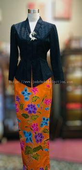 ��ɫ����˿�������Ǹ�Q�� Size S/L/XL/2XL Cotton Lace Kebaya - Black  -