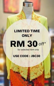 ��ɫѩ���廨���Ǹ�Q�� Size 40 Nyonya Kebaya Embroidery (Floral Motif) - Yellow