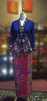 KBY006 Nyonya Kebaya (Floral Motif) - Size L