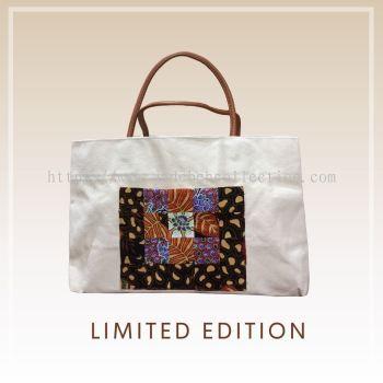 BTK(B)002 �����Q������� Canvas Tote Bag Batik Patchwork Pocket