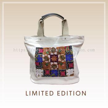 BTK(B)003 �����Q������� Canvas Tote Bag Batik Patchwork Pocket