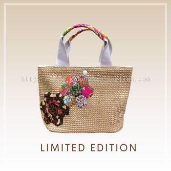 BTK(B)006 С�Ųݱ��Q������� Straw Bag Batik Patchwork