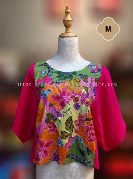 BTK013 �Q��ƴ������ | Batik Patchwork Blouse