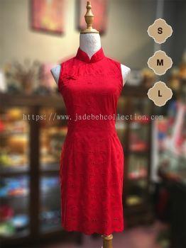 QP079 ����˿�������� | Cotton Lace Slim Fit Qipao