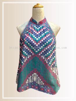 BTK(T)067 Batik A  Line Qipao Top