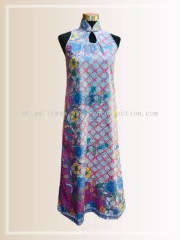 BTK(D)065 Batik Maxi A Line Qipao