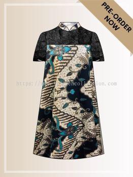 BTK(D)076 Batik A Line Midi Dress