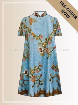 BTK(D)091 Batik A Line Midi Dress