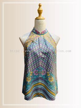 BTK(T)072 Batik A Line Qipao Top