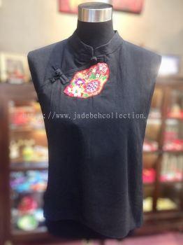 BTK022 Batik Patchwork Sleeveless Blouse