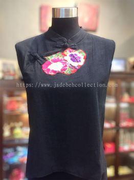 BTK023 Batik Patchwork Sleeveless Blouse