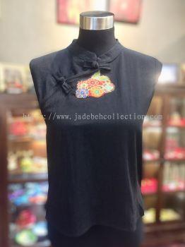 BTK025 Batik Patchwork Sleeveless Blouse