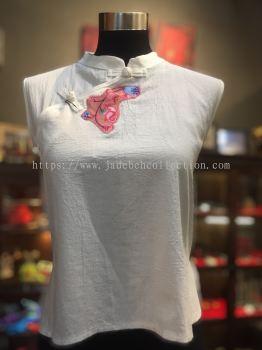 BTK027 Batik Patchwork Sleeveless Blouse