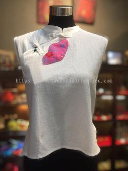 BTK028 Batik Patchwork Sleeveless Blouse