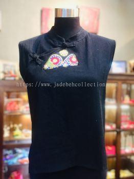 BTK033 Batik Patchwork Sleeveless Blouse
