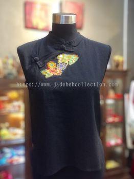 BTK034 Batik Patchwork Sleeveless Blouse