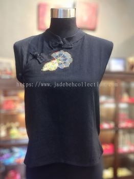 BTK037 Batik Patchwork Sleeveless Blouse