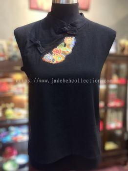 BTK038 Batik Patchwork Sleeveless Blouse
