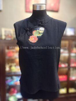 BTK039 Batik Patchwork Sleeveless Blouse