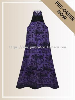 BTK(D)099 Pre-order Batik & Lace Cut-in Maxi Dress