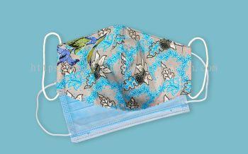 SOLD OUT - FM069 - 3 Layers Reusable Batik Face Mask