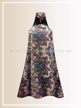 BTK(D)113 Pre-order Batik & Lace Cut in Maxi Dress