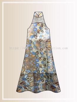 BTK(D)116 Pre-order Batik & Lace Cut in Maxi Dress