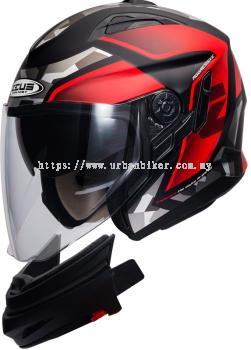 ZEUS ZS-613-Matte Black AJ14 Red