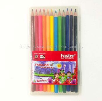 Faster Fabulous Colour Pencils 12 Colors