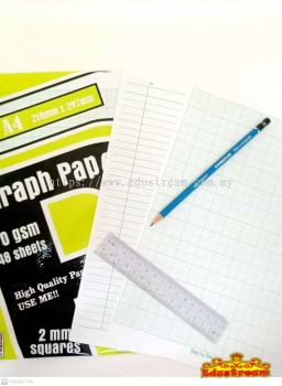 Step by Step Graph Paper 70 GSM 48 Sheets