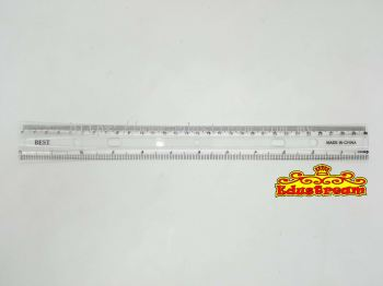 12'' TRANSPARENT RULER (30CM) KH-148