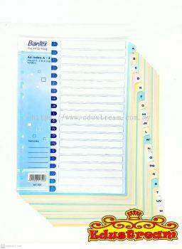 BANTEX A4 MANILA CARDBOARD INDEXES A-Z