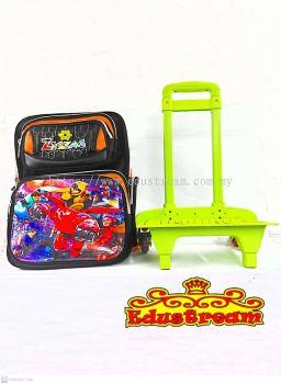 Zigzag School Bag with Trolley