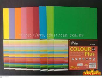 SPLAIN COLOUR PLUS CARD A4.240GSM 10'S