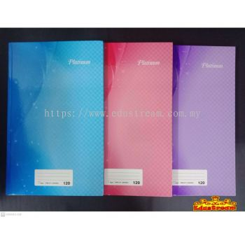 HARD COVER PLATINUM FOOLSCAPBOOK 60 GSM 120 PAGES/200 PAGES