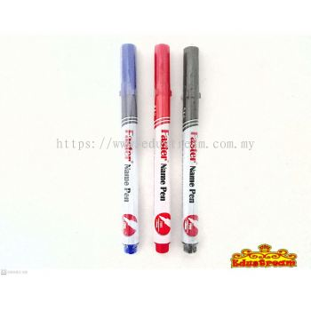 FASTER NAME PEN FINE 1.0 MM ( 2 IN 1 SET )