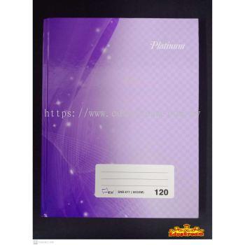 UNI PAPER PLATINUM HARDCOVER QUARTO BOOK F5 120 PAGES