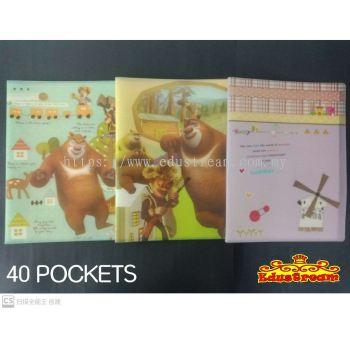 FANCY CLEAR HOLDER FILE A4 ( 40 POCKET )
