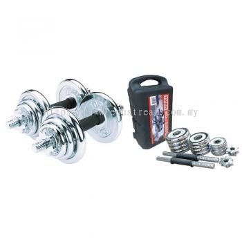 ITSP-134 20KG CHROME DUMBELL SET