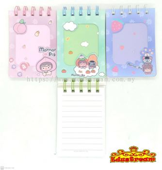 MAYMAY PIG SPIRAL NOTEBOOK A7  (3 IN 1 PACK)