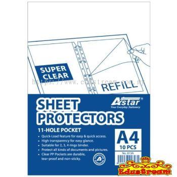 Astar Clear Sheet Protectors A4 10 Pcs