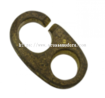 CLIP FLAG WITHOUT SWIVEL BRASS