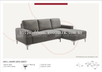 839 L-Shape sofa (Grey)
