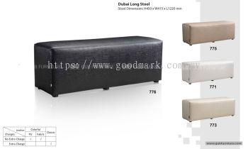 Dubai long stool