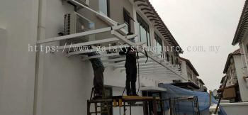 Pergola Acp paint and special pergola Acp hanging paint @ Jalan Setia Tropika U13/18C2, Setia ECO Park.