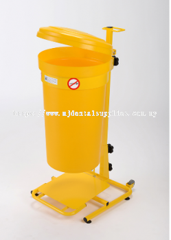 MOBILE PEDAL OPERATED DUAL PURPOSE CLINICAL WASTE BIN, 20.0LITER, MEDICAL APPARATUS