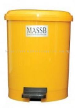 PEDAL OPERATED CLINICAL WASTE BIN, YELLOW, 10LITER/UNIT, MEDICAL APPARATUS