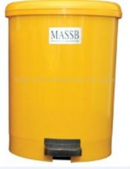 PEDAL OPERATED CLINICAL WASTE BIN, YELLOW, 18LITER/UNIT, MEDICAL APPARATUS